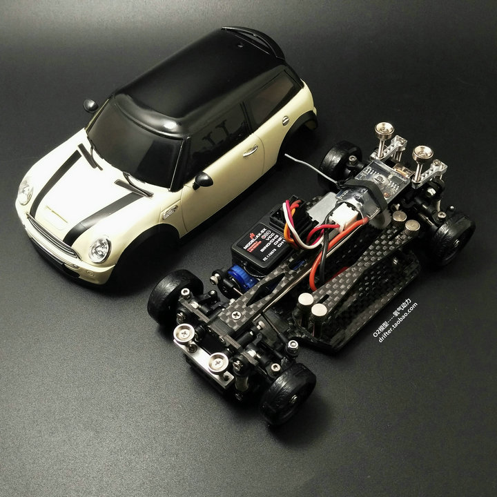 MINI-D1/28RC 4-Drive AWD Rear-drive RWD Front Drift Racing Remote Control Electric Model Mosquito Car