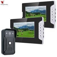 7 video intercom doorbell night vision IR 700tvl door camera waterproof unlock for home apartment video door phone system
