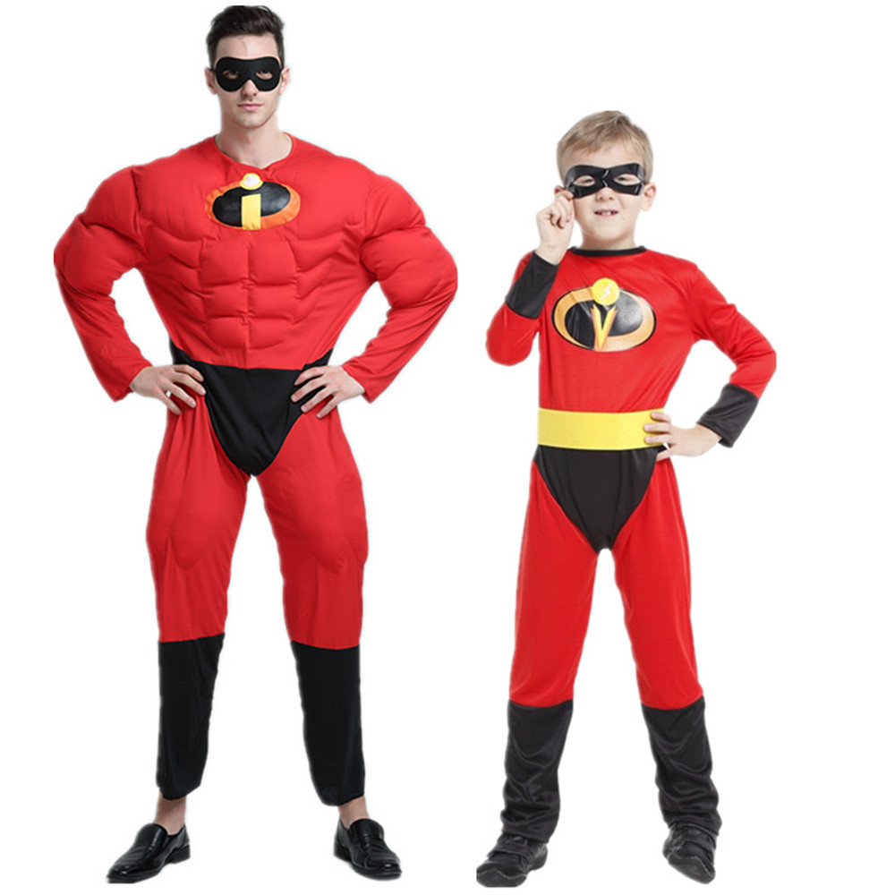 cosplay Incredibles Costume boy/men/women Halloween Costume For Kid adult party Anime Disfraces Carnaval Clothing full Set
