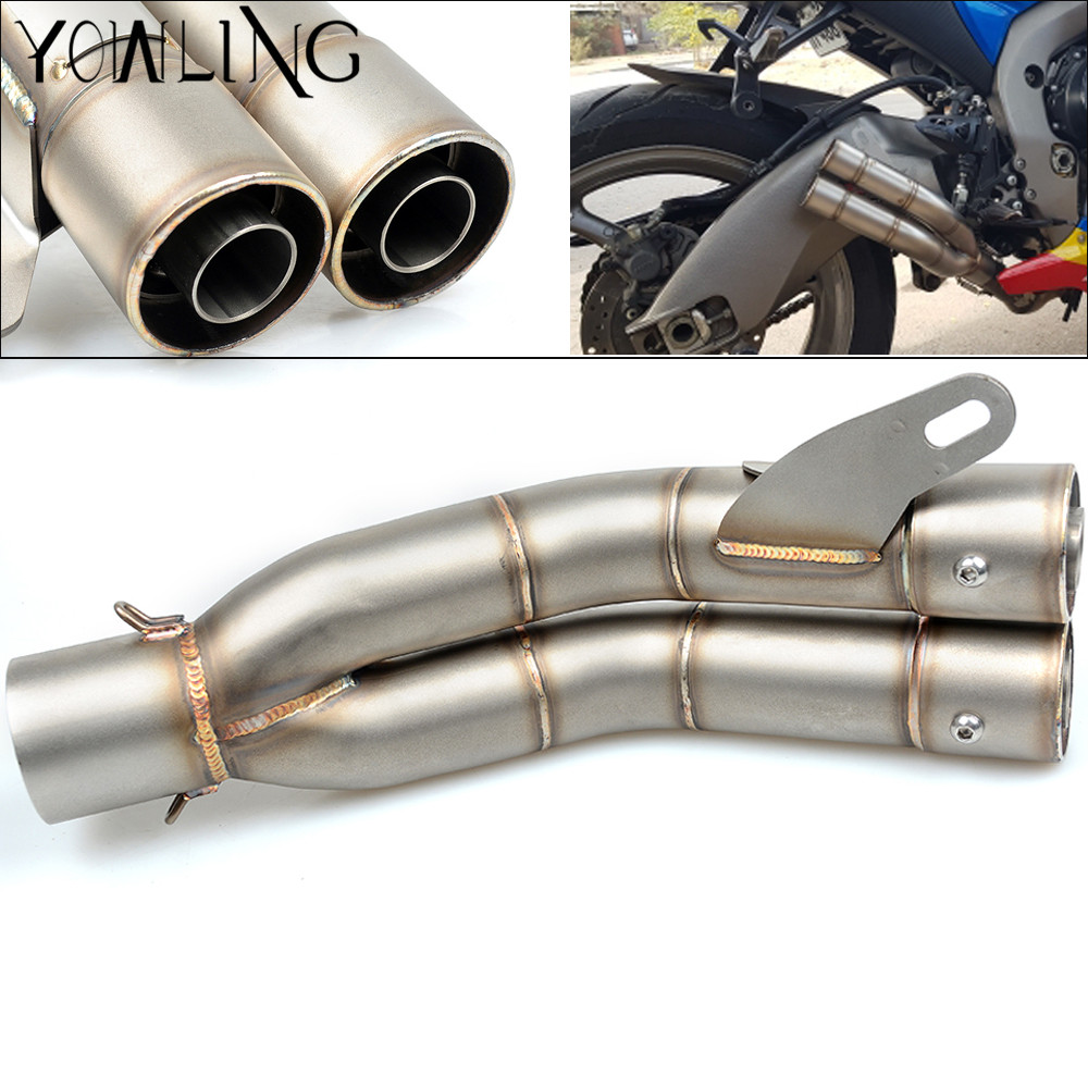 все цены на Motorcycle Scooter Exhaust Pipe Muffler For KTM RC 125 200 390 Duke 690 Enduro Supermoto 990 Adventure 1190 RC8 1290 Super Duke онлайн