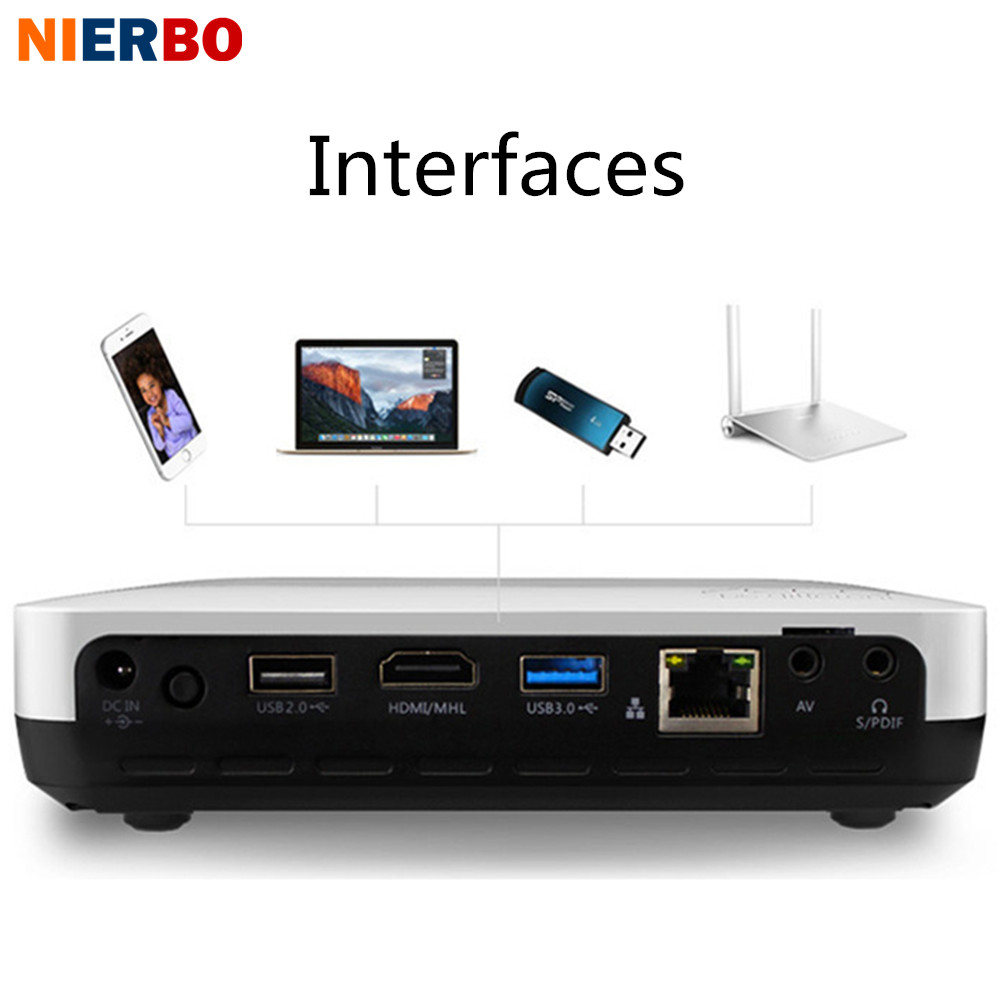 3d Portable 1080p Hd Led Mini Projector Multimedia Home: NIERBO 3D LED Projector Full HD 1080P Android