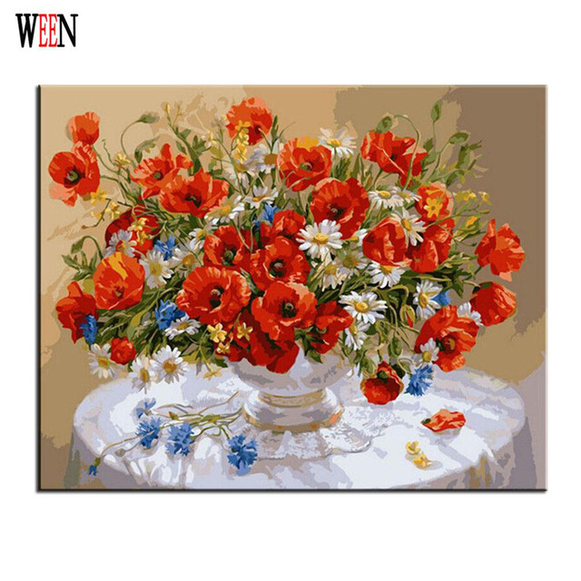 Aliexpress.com: Comprar Ramo De Flores de Pintura Por Números En ...