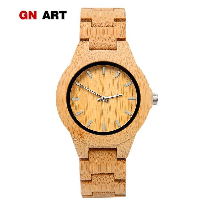 GNART montre femme reloj de madera mujer relogio femenino relojes de madera relojes para mujer 2018 famosa único