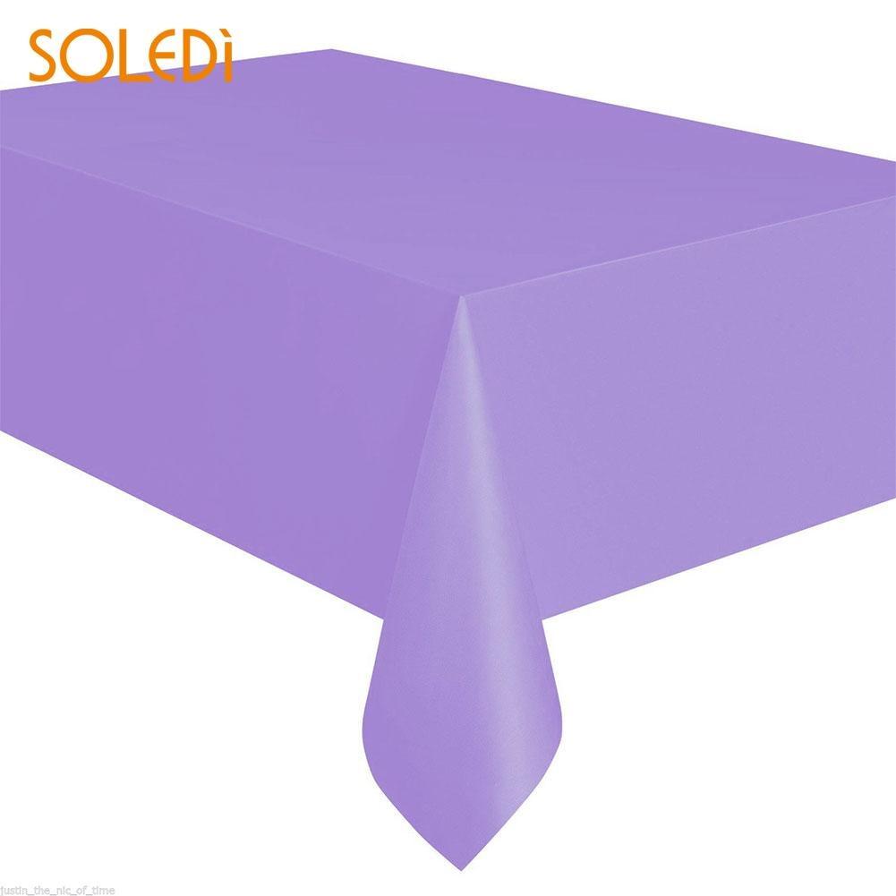SOLEDI 20 цветов мягкий настольный бегун скатерть пластиковые товары для дома одноразовая скатерть для стола украшение стола - Цвет: light purple