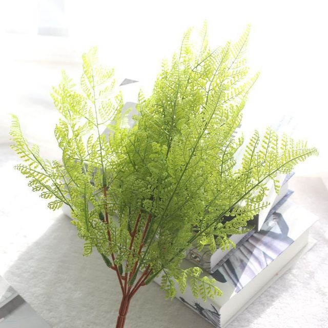 2017 Artificial Fern Plants 1 Bouquet Fake Fern Leaves Cheap Artificial  Plants For Garden Home Decoration