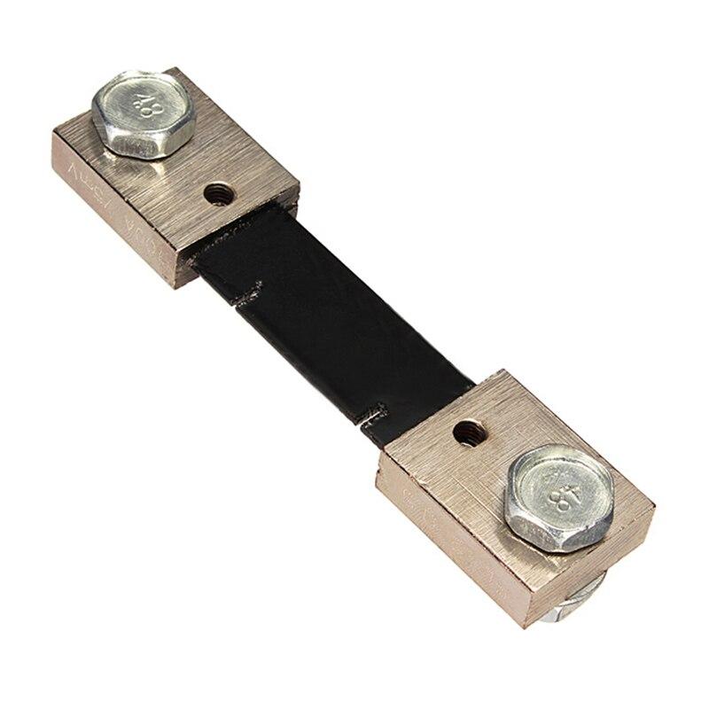 LIXF HOT FL-2 DC 100A 75MV Current Shunt Resistor for AMP Ampere instrument panel Black