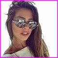 2017 Женщины New Солнцезащитные Очки полуободковые Vintage Очки Женщины Luxury Brand Алмаз Солнцезащитные Очки UV400