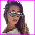 2017 Women New Sunglasses Semi-rimless Vintage Glasses Female Luxury Brand Diamond Sunglasses UV400