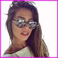 2017 mujeres new sunglasses semi-sin montura gafas vintage mujer marca de lujo del diamante gafas de sol uv400