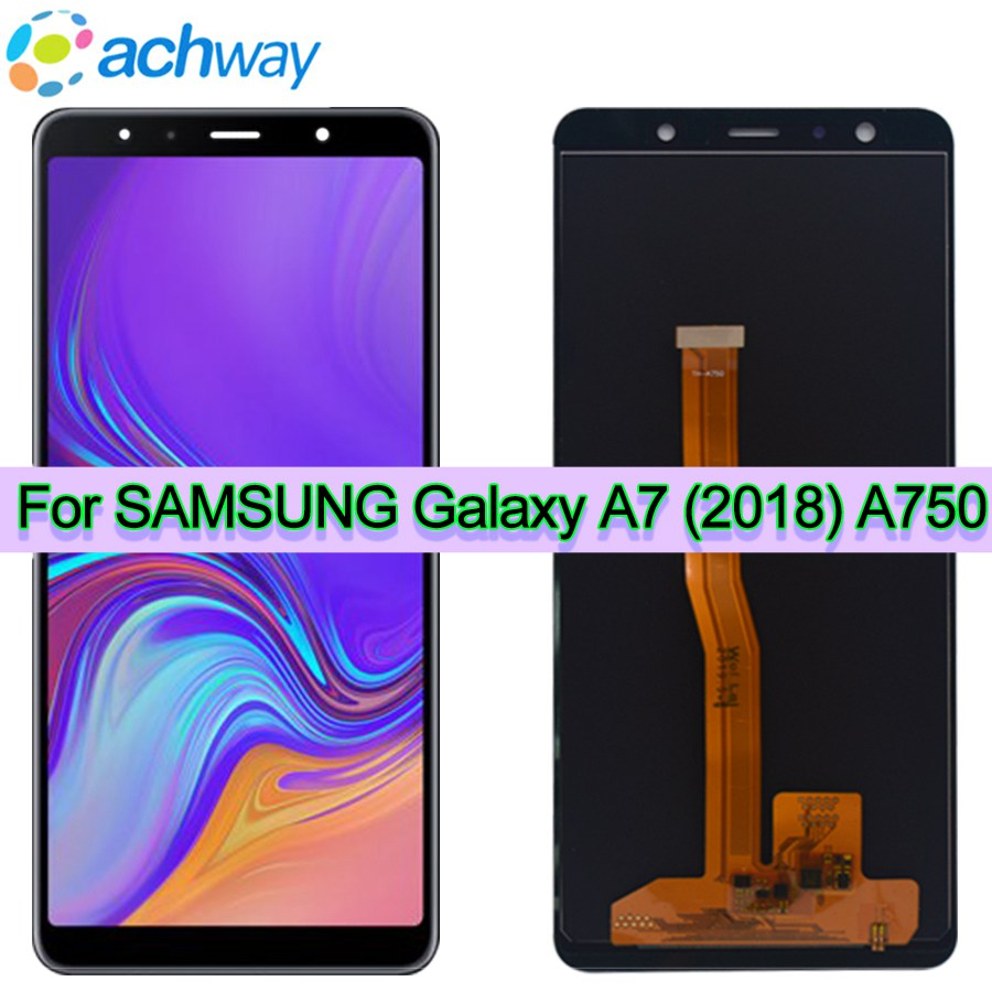 Black New 6 0 For Samsung Galaxy A7 2018 A750F A750G A750FN Touch Screen Digitizer LCD