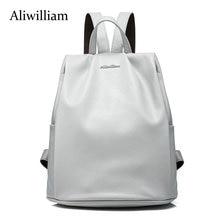 Aliwilliam Натуральная Кожа Заклепки Рюкзак Колледж Стиль Рюкзак женская, школьные Сумки для Подростков, дамы сумку женщины mochila