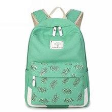 Высокое качество холст Для женщин рюкзак для подростков Обувь для девочек Повседневное Сумки женский Сумки на плечо печать школа Рюкзаки Latop дорожная сумка