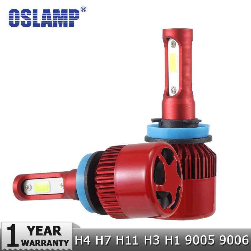 Oslamp NEW H4 LED Headlights H7 H11 H1 H3 9012 9005 9006 COB Auto Headlamp 6500K/4300K 9007 H13 LED Car Light Bulbs 60W 7000lm