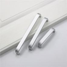 1 шт. алюминиевая длинная ручка мебельный Шкаф дверца ручки для спальни шкаф комод кухонный ящик тянет