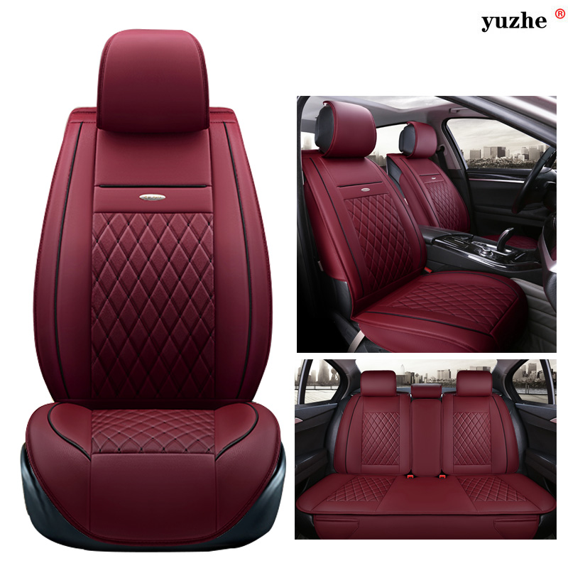 Yuzhe leather car seat cover For Lexus RX LX NX EX CT RC IS GS GX460 GX470 GX400 2007-2014 accessories styling cushion car carbon fiber spoilers sticker for lexus rx nx gs ct200h gs300 rx350 rx300 for alfa romeo 159 147 156 166 gt mito accessories