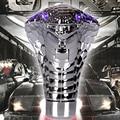 2015 New Car cool Cobra Head Gear Car Modification General with LED lights R manual Gear Shift Knob