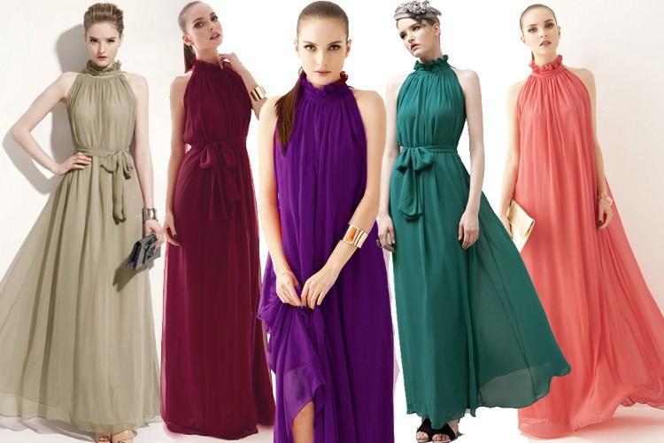 Women Summer Bohemian Style Long Chiffon Dress Ladies Clothes Pregnant Maternity Dresses Maternidade Pregnancy Clothing 2