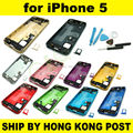 High Quality New Complete Full Set Back Housing For iPhone 5 5G Battery Door Cover Middle Frame Assembly With Tool Kit
