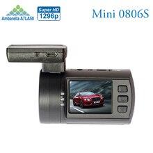 Nueva Actualización de Mini 0806 S Auto Dash Cámara Del Coche DVR de Ambarella a7 1296 p 1080 p hdr caja negro gps maderero g-sensor motion Detector