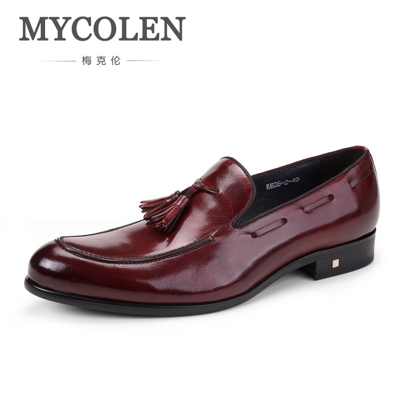 MYCOLEN Men's Casual Genuine Leather Shoes Slip-On Velet Loafers Driving Shoes Fahion Boat Shoe Mens Handmade Moccasins men s full grain leather shoes casual crocodile driving shoes slip on boat shoes fashion moccasins for men s loafers new quality