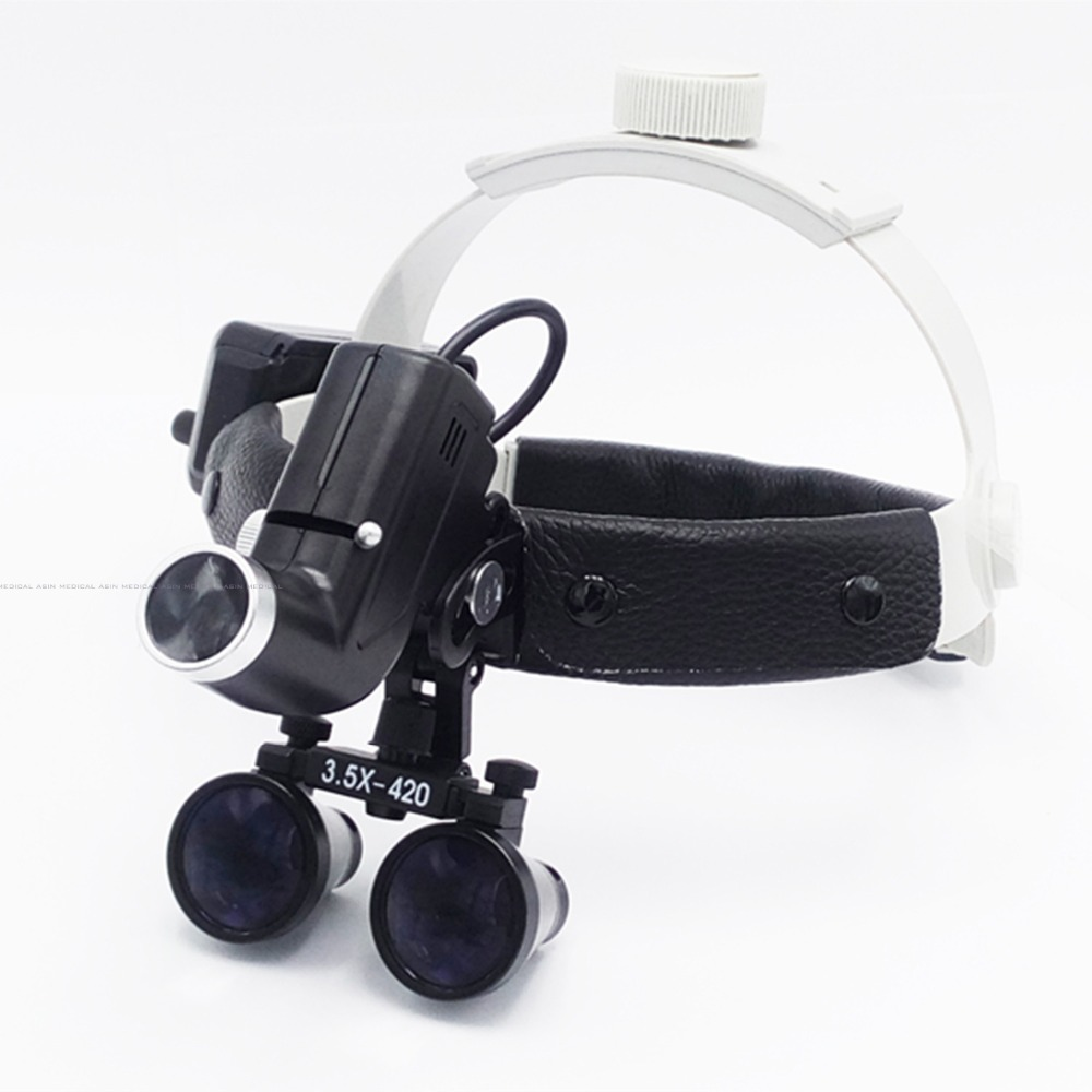 3 5X magnifier high intensity led light dental loupe surgeon operation led head lamp surgical headlamp