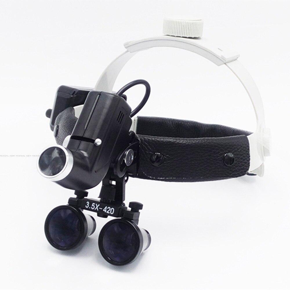 3.5X lente di ingrandimento ad alta intensità led lente di ingrandimento dentale chirurgo funzionamento lampada frontale a led chirurgico faro dentale faro