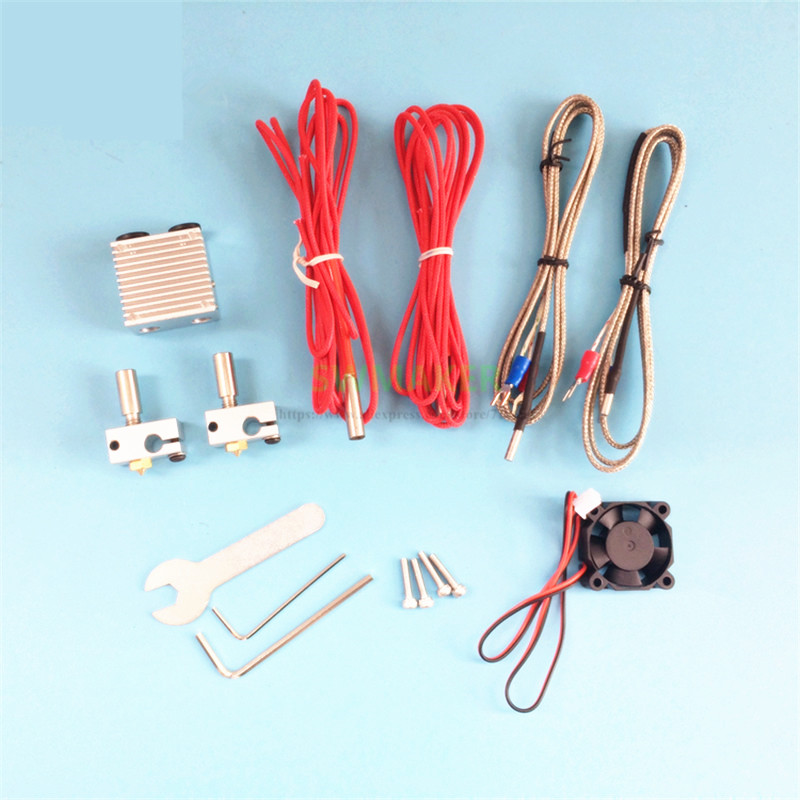 Chimera Plus+ Dual Extrusion head 2 in 2 out V6 hotend kit with Thermocouple cable and update head sink for 3D printer parts