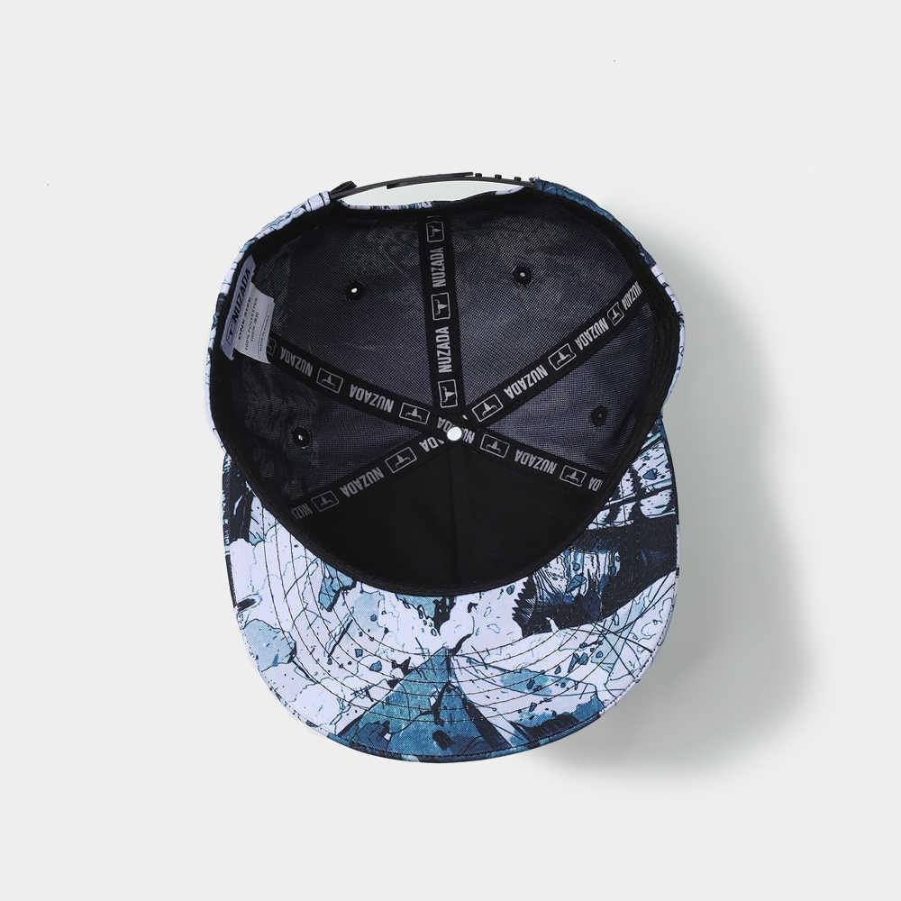 NUZADA HD Impressão Digital Boné de Beisebol Para Homens Mulheres Casal Snapback Osso Chapéus Estilo de Design Da Marca Original Arte do Grafite