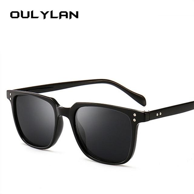 f750236281 Oulylan Vintage Sunglasses Men Luxury Brand Designer Driving Sun Glasses  Male Cool Shades Retro Goggle UV400 Black Blue Eyewear