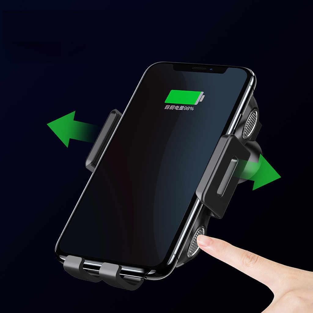 Soporte de carga inalámbrico de sujeción automática para coche de ventilación de aire para Samsung Galaxy S10