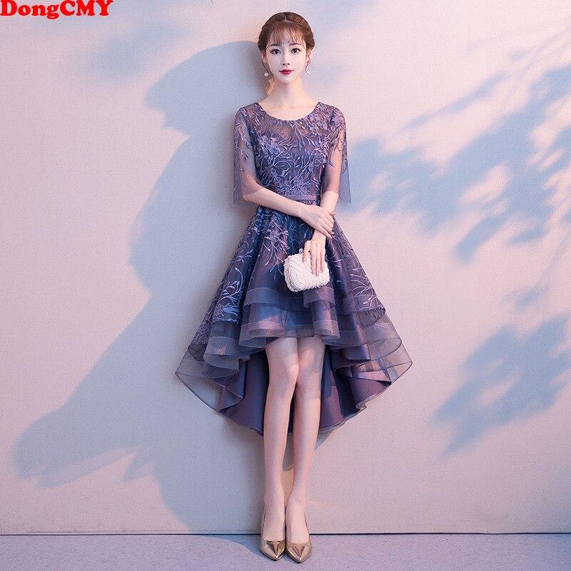 DongCMY nouvelle robe de demoiselle d'honneur Junior haute/basse robe de mariée de mariage fleur fermeture à glissière robe