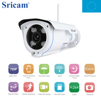 Local Shipping Sricam SP007 Outdoor Waterproof CCTV Home Security Protection Remote Control Onvif WIFI Network IP