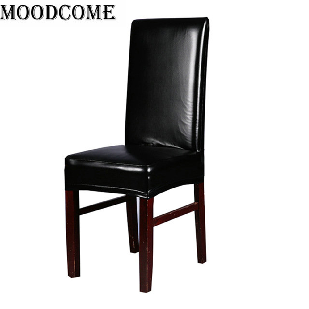 Office Chair Cover Spandex stoelhoezen eetkamer Elastic coffee color leather pu chair cover in Chair Cover from Home Garden
