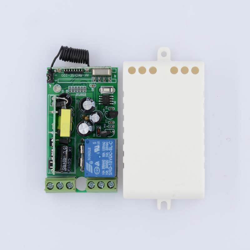 RF Wireless Switch AC 220V 230V 110V 240V 250V Input Output Power Remote Switch LED Lamp Bulb SMD Remote Lighting ON OFF ac 220v 1ch rf wireless remote switch wireless light lamp led switch 1 mini receiver 4 transmitters on off 315mhz or 433mhz