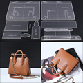 Leather Handmade Craft women`s shoulder bag Sewing Pattern Acrylic Stencil Template Sewing accessories with holes 29.5x24x10cm