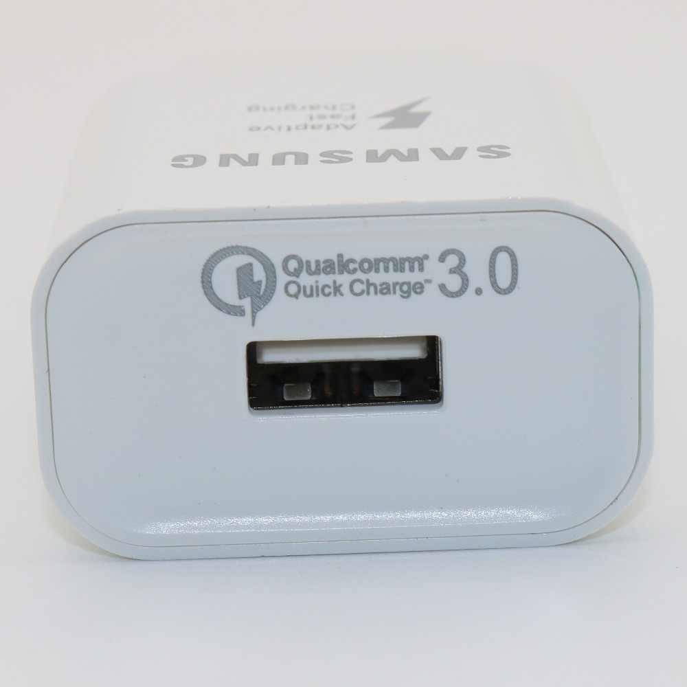 الأصلي شاحن سريع 3.0 لسامسونج غالاكسي S9 S8 زائد C9 برو Note8 9 الاتحاد الأوروبي التوصيل الحقيقي مهايئ شاحن سريع نوع -C كابل 9V2A و 5V2A