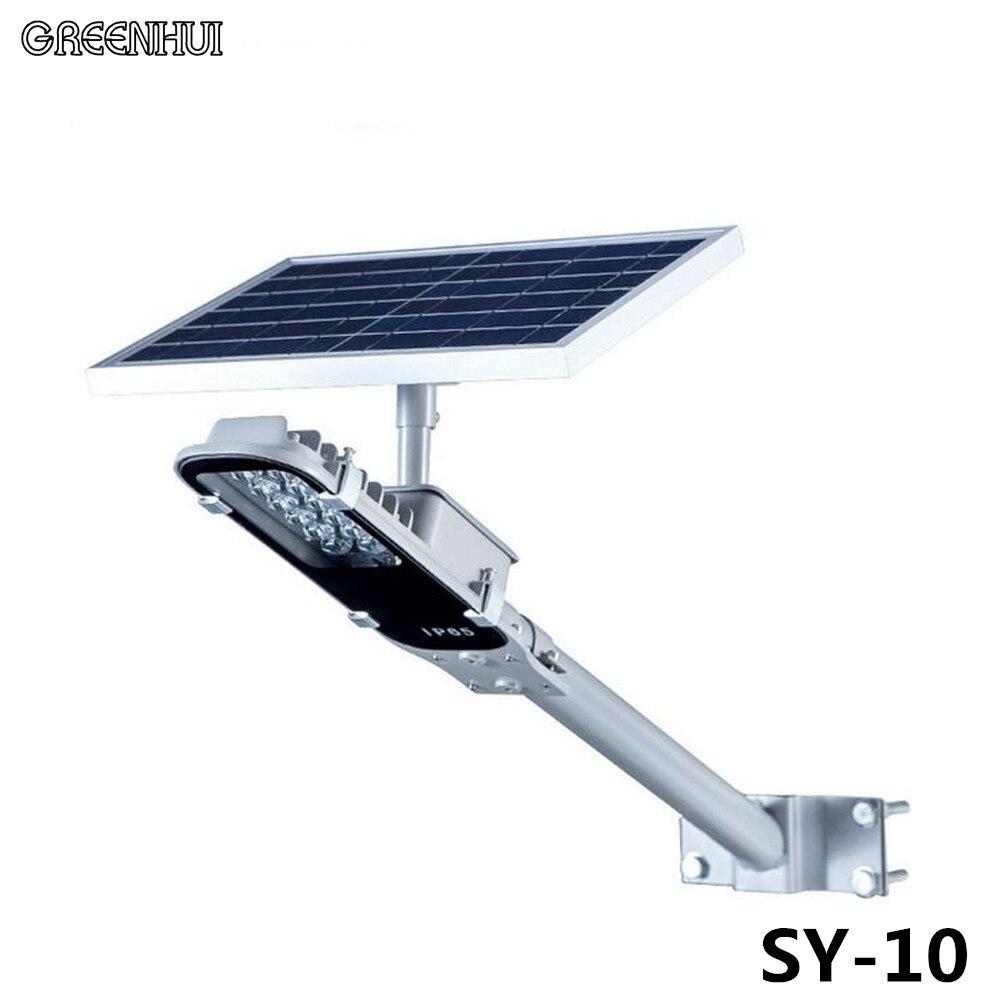 En gros 12 LED s automatique solaire lampadaires 6 V 10 W solaire alimenté panneau extérieur jardin cour chemin mur LED lumière