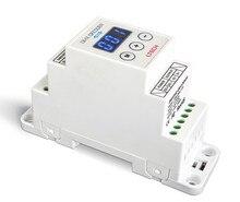 New LTECH DIN-DMX-12A DIN Rail DMX Decoder 1CH DMX-PWM Decoder;DC5-24V input;12A*1CH Max 12A output DMX512 Controller