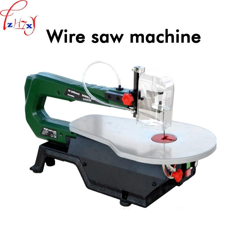 Tavolo ha veduto la macchina 400A motore filo di rame filo sega strumenti di lavorazione del legno può tagliare legno, plastica, molle di metallo 220 v 1 pz