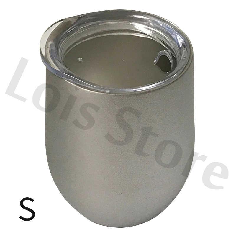 Пивные чашки 12 унций/6 унций винный стакан кружка бокалы для вина вакуумный термос в форме яйца чашка 304 нержавеющая сталь Bridemaid Выпускной подарок