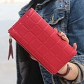 New 2017 Stereoscopic Square Women Wallets Fashion Embossed Wallet Female Clutch Double Zipper Women Purses Carteira Feminia