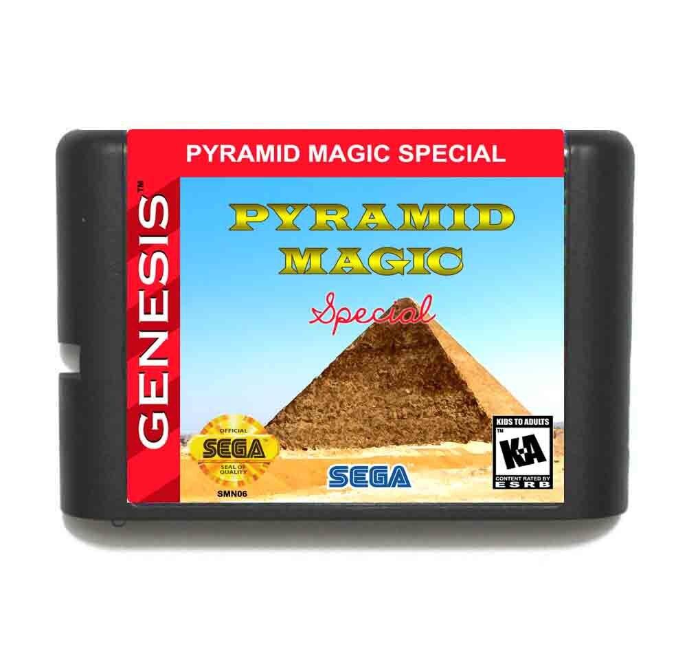 Pyramid Magic Special 16 bit MD Game Card For Sega Mega Drive For Genesis