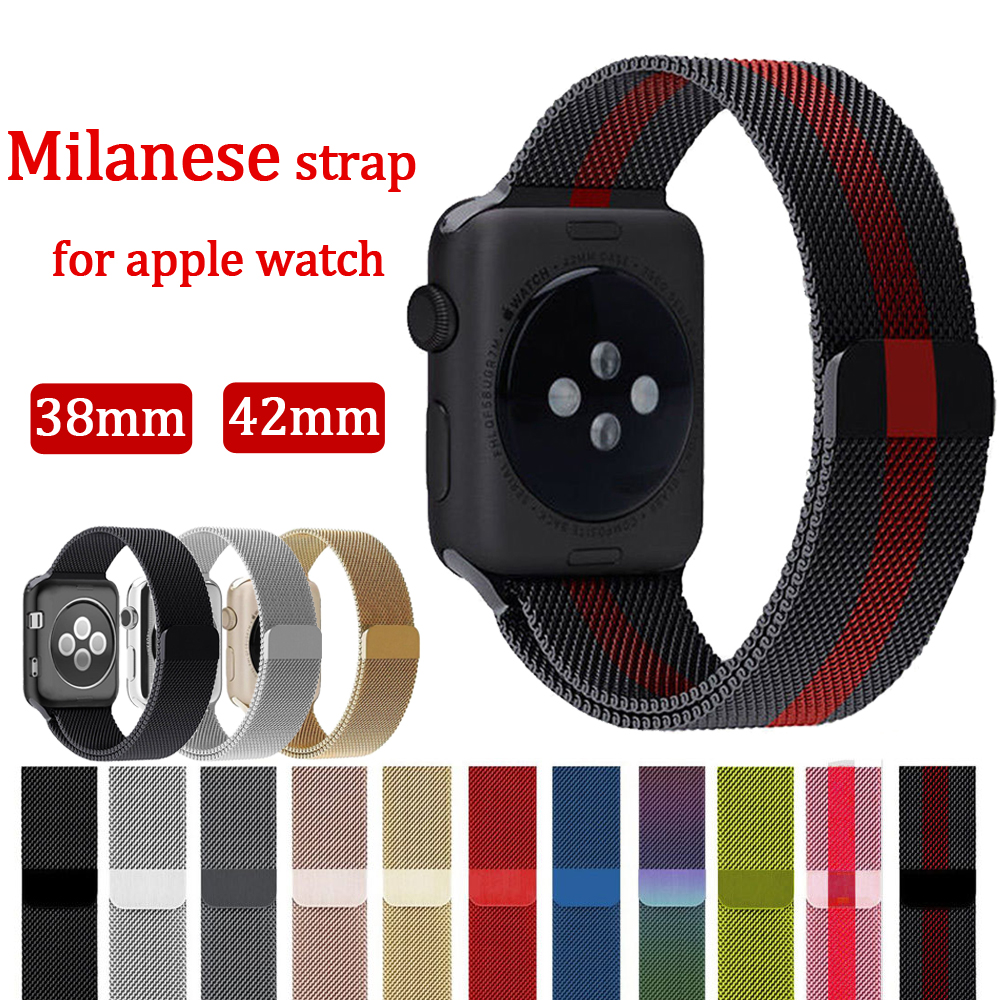 Milanese Loop Strap For Apple Watch band 42mm 38mm Stainless Steel Bracelet Wrist Watch Band for Iwatch 3/2/1 Accessories Belt milanese loop watch band strap for apple watch 38mm 42mm bracelet belt stainless steel mesh watchband for iwatch series 1 2