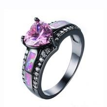 Sue Phil Новый 2018 для женщин кольца Мода Сердце Кристалл женские обручальные кольца Прямая доставка