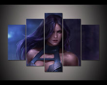 5 Panel HD Printed Painting Cartoon Sexy Women Poster Canvas Print Home Decor Wall Art Pictures For Living Room