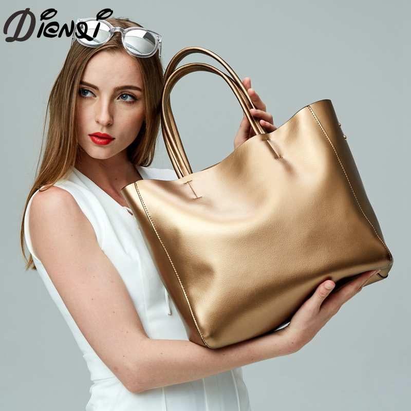 DIENQI Women Handbag 2018 New Designed Genuine Leather Crossbody Bags Tote Large Capacity Solid Shoulder Bag Bolsa Feminina arlanfivis genuine leather bags for women luxury large capacity handbag new 2018 fashion bolsa feminina ladies tote shopping bag