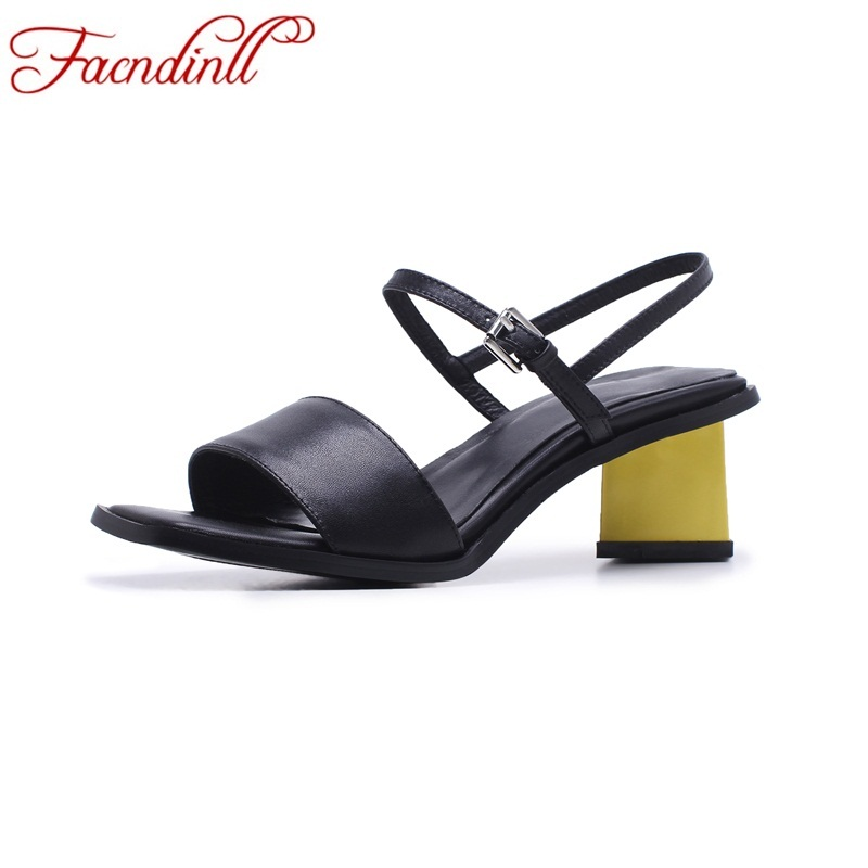 New design 2018 gladiator sandals for women fashion genuine leather sandals platform high heels luxury brand summer shoes woman woman fashion high heels sandals women genuine leather buckle summer shoes brand new wedges casual platform sandal gold silver