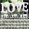 1 PCS Wooden Wood Letter Alphabet Word Free Standing Wedding Party Home Decoration8*1.2CM
