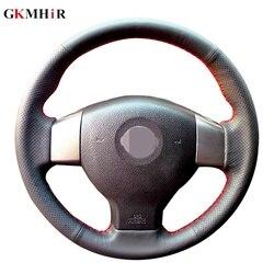 Diy czarny sztuczna skóra pokrywa kierownicy dla nissan tiida 2004-2010 Sylphy 2006-2011 Versa 2007-2011 Versa note