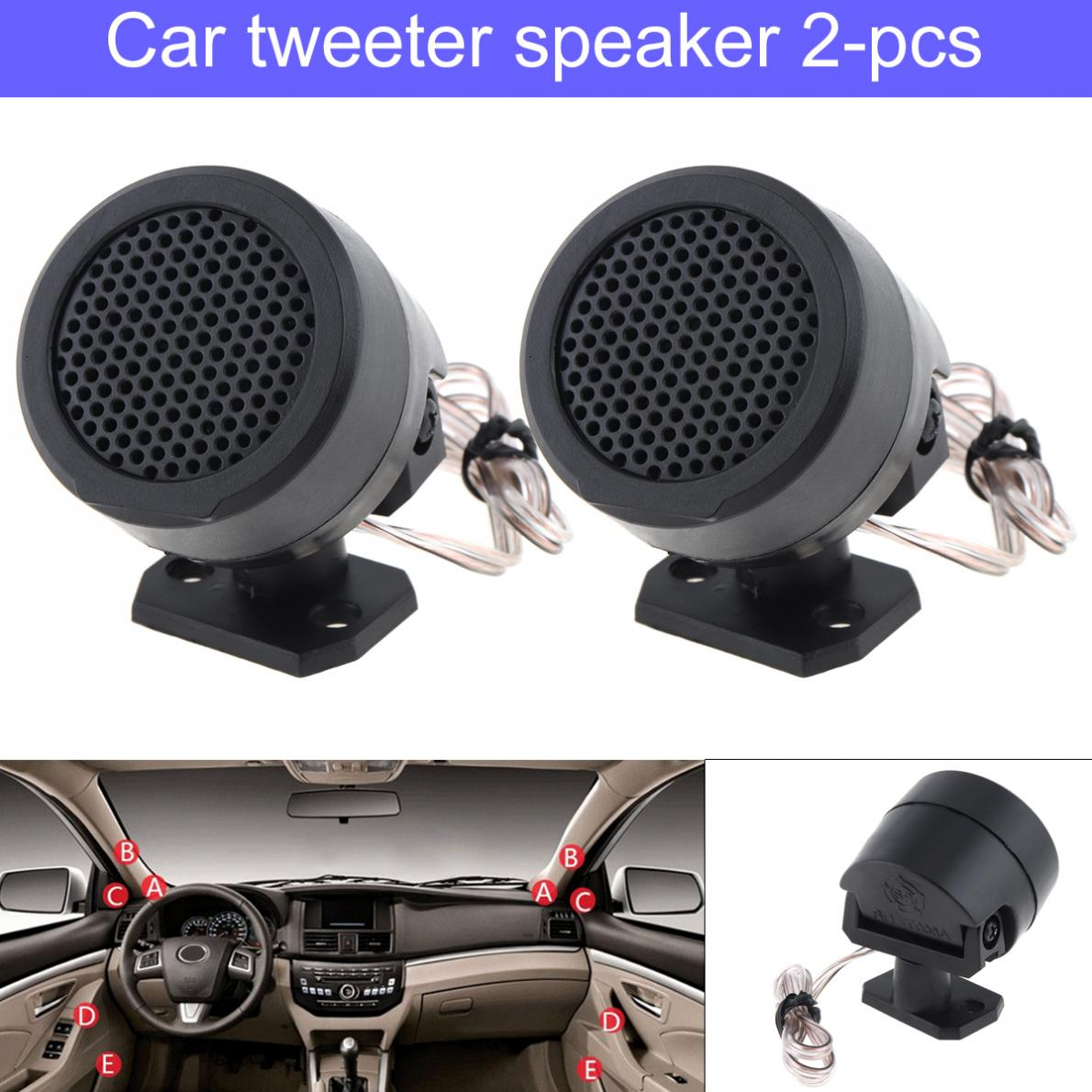 1Pair 500W High Efficiency Dome Mini Car Tweeter Speakers Auto Horn Audio  Music Stereo Speakers for Car Audio System